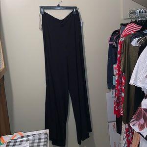 Free People Black Wide Leg Pants Size 4